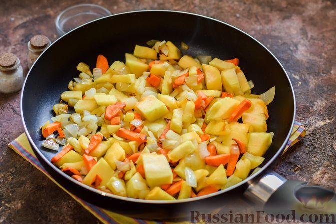 Фото приготовления рецепта: Тыквенное пюре с фасолью - шаг №7
