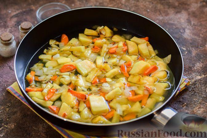 Фото приготовления рецепта: Тыквенное пюре с фасолью - шаг №8