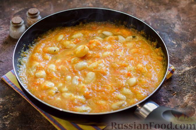 Фото приготовления рецепта: Тыквенное пюре с фасолью - шаг №11