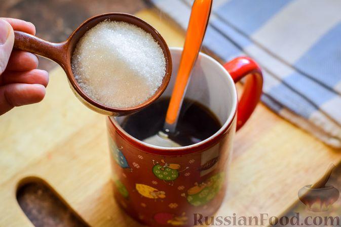 Фото приготовления рецепта: Молочно-йогуртовое желе с кофе (на агар-агаре) - шаг №4
