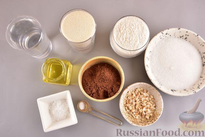 Фото приготовления рецепта: Постный шоколадный манник - шаг №1
