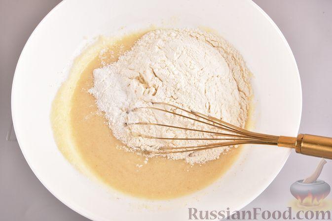 Фото приготовления рецепта: Постный шоколадный манник - шаг №4