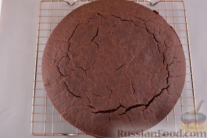 Фото приготовления рецепта: Постный шоколадный манник - шаг №9