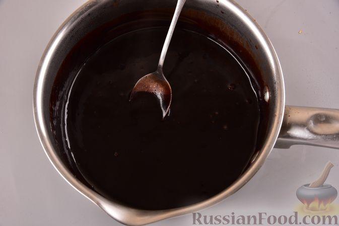 Фото приготовления рецепта: Постный шоколадный манник - шаг №11