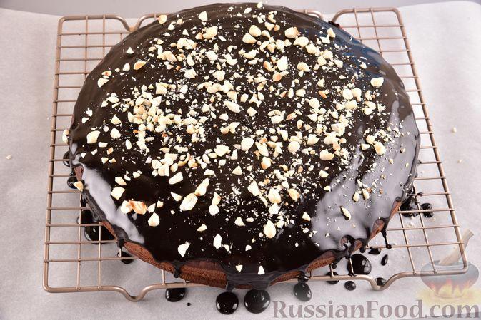 Фото приготовления рецепта: Постный шоколадный манник - шаг №13