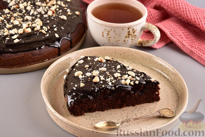 Фото приготовления рецепта: Постный шоколадный манник - шаг №14