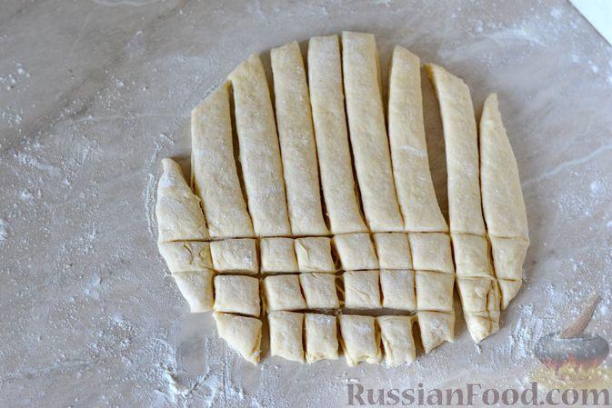 Фото приготовления рецепта: Куриный суп с жареными галушками - шаг №11