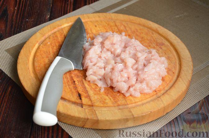 Фото приготовления рецепта: Рулет из лаваша с куриным филе, айвой и сыром (в духовке) - шаг №2