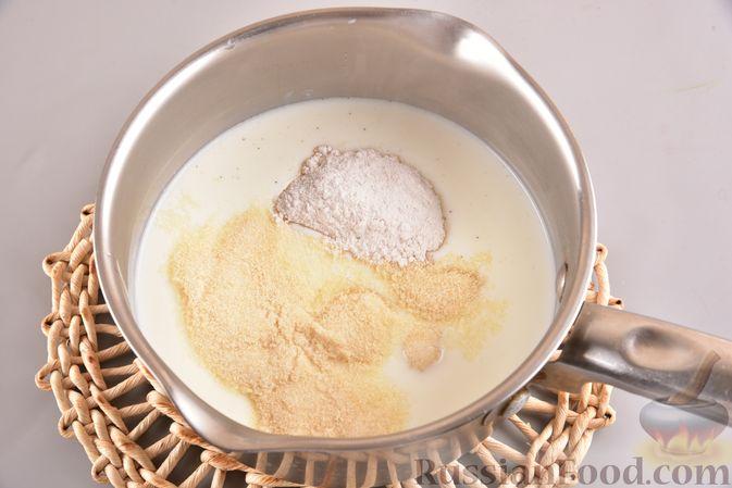 Фото приготовления рецепта: Тыквенно-сливочный десерт с джемом и орехами - шаг №3