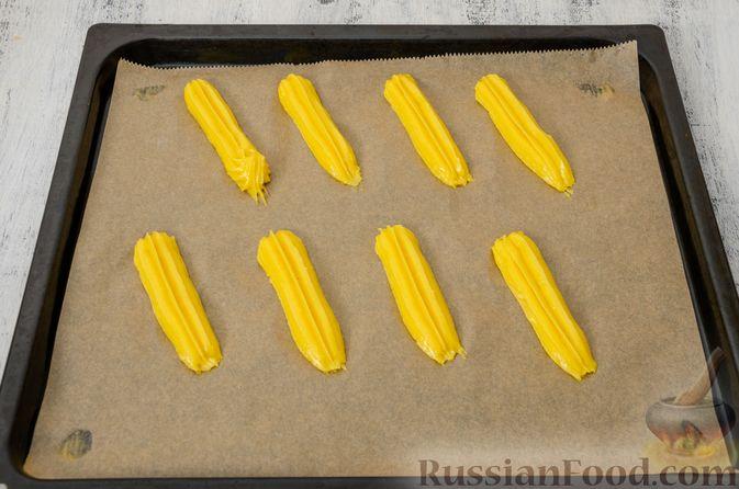 Фото приготовления рецепта: Эклеры с заварным тыквенным кремом и пряностями - шаг №23