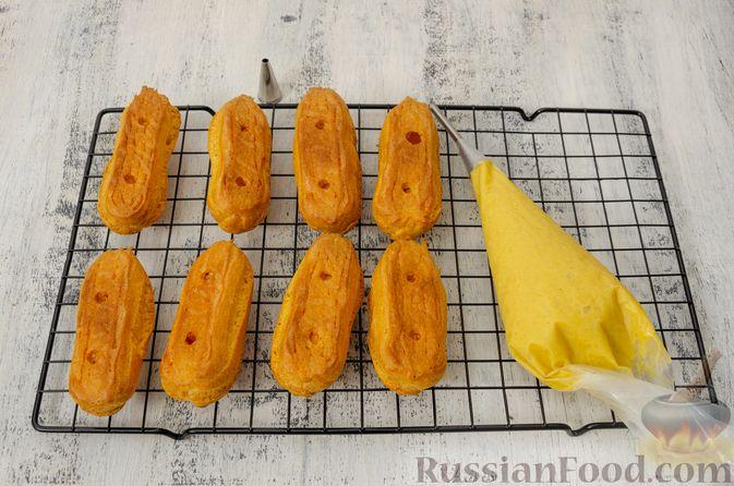 Фото приготовления рецепта: Эклеры с заварным тыквенным кремом и пряностями - шаг №25