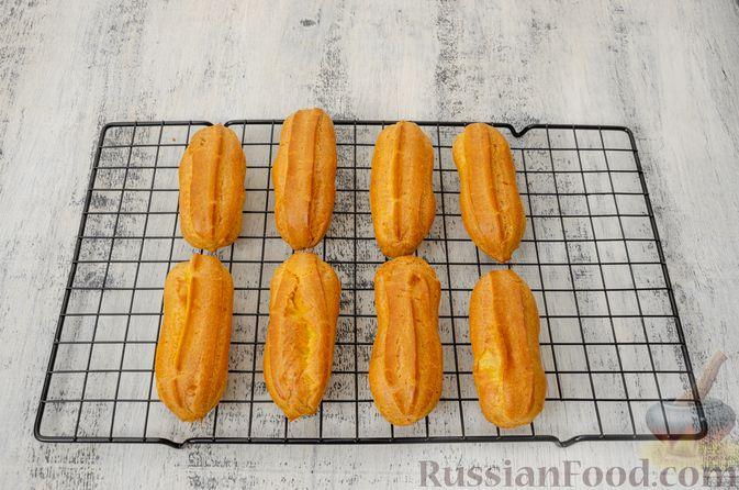 Фото приготовления рецепта: Эклеры с заварным тыквенным кремом и пряностями - шаг №26