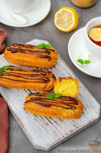 Фото приготовления рецепта: Эклеры с заварным тыквенным кремом и пряностями - шаг №30