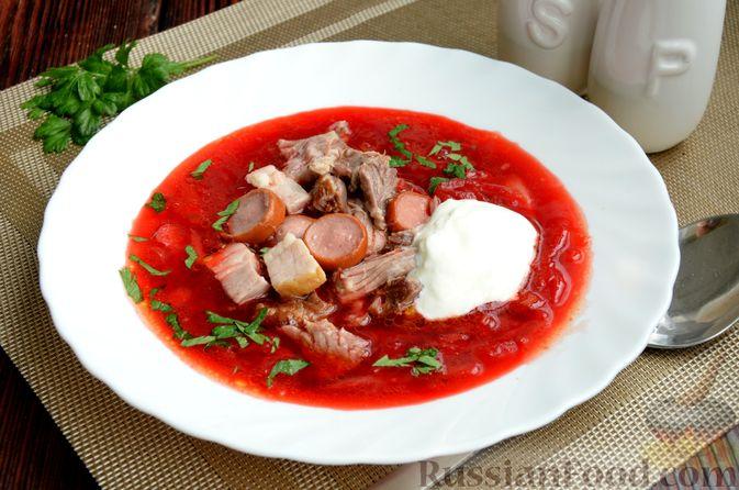 Фото к рецепту: Борщ московский