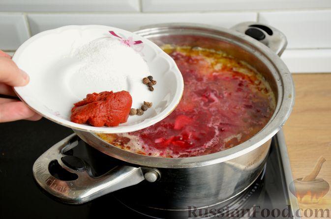 Фото приготовления рецепта: Борщ московский - шаг №14