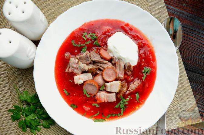 Фото приготовления рецепта: Борщ московский - шаг №17