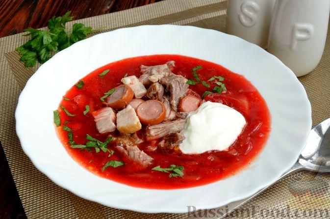 Фото приготовления рецепта: Борщ московский - шаг №18