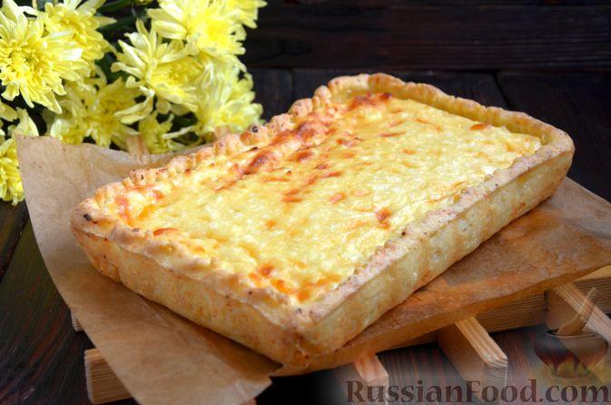 Фото к рецепту: Творожный тарт с творогом
