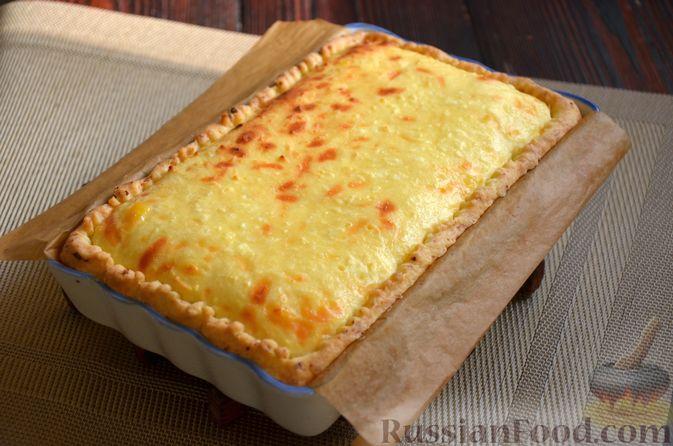 Фото приготовления рецепта: Творожный тарт с творогом - шаг №9