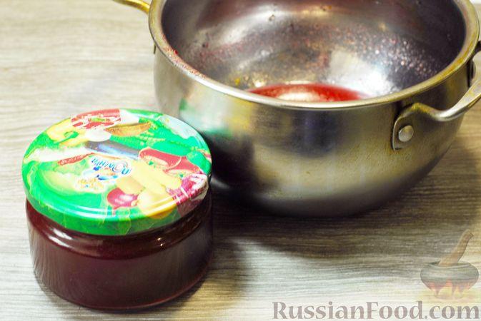 Фото приготовления рецепта: Клюквенный джем (на зиму) - шаг №12