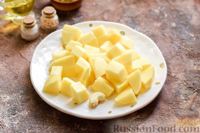 Фото приготовления рецепта: Овощной суп с фасолью и капустой - шаг №4