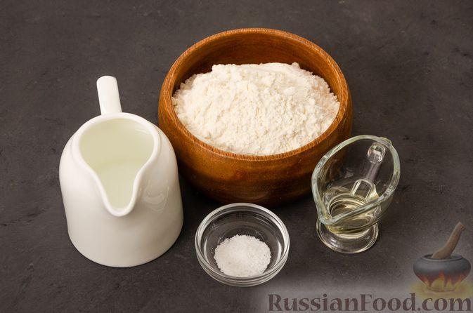 Фото приготовления рецепта: Кутабы с начинкой из творога и зелени - шаг №1