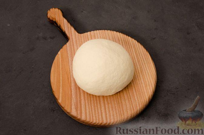 Фото приготовления рецепта: Кутабы с начинкой из творога и зелени - шаг №5
