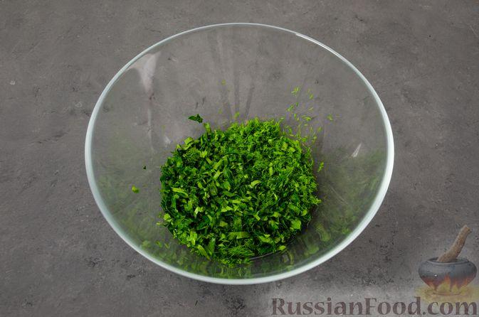Фото приготовления рецепта: Кутабы с начинкой из творога и зелени - шаг №8