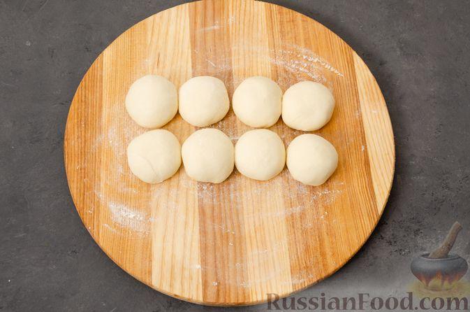 Фото приготовления рецепта: Кутабы с начинкой из творога и зелени - шаг №11
