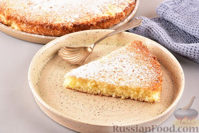 """Фото приготовления рецепта: Лимонный пирог """"Четыре четверти"""" - шаг №9"""