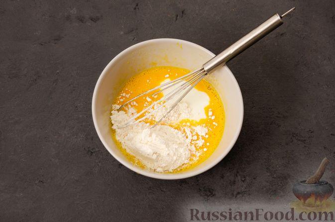 Фото приготовления рецепта: Суп с фрикадельками и яичной заправкой - шаг №7