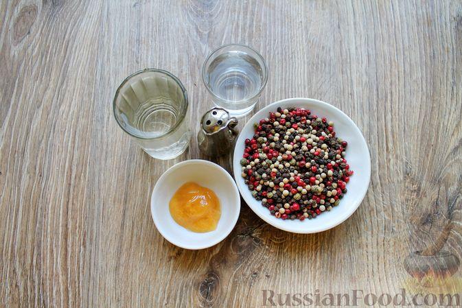 Фото приготовления рецепта: Консервированный перец горошком - шаг №1