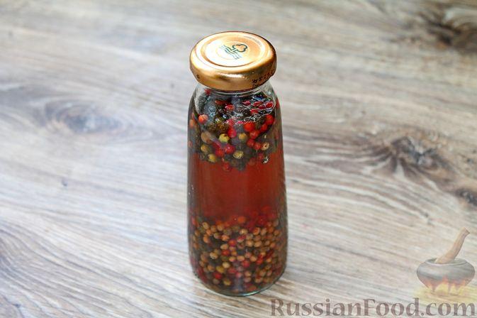 Фото приготовления рецепта: Консервированный перец горошком - шаг №9