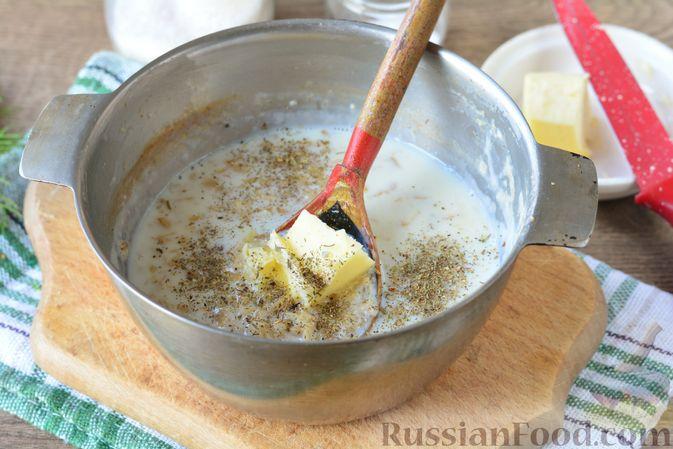 Фото приготовления рецепта: Несладкая овсянка на молоке - шаг №6