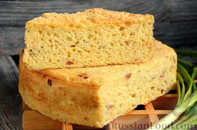 Фото приготовления рецепта: Дрожжевой картофельный хлеб с беконом и зелёным луком - шаг №14