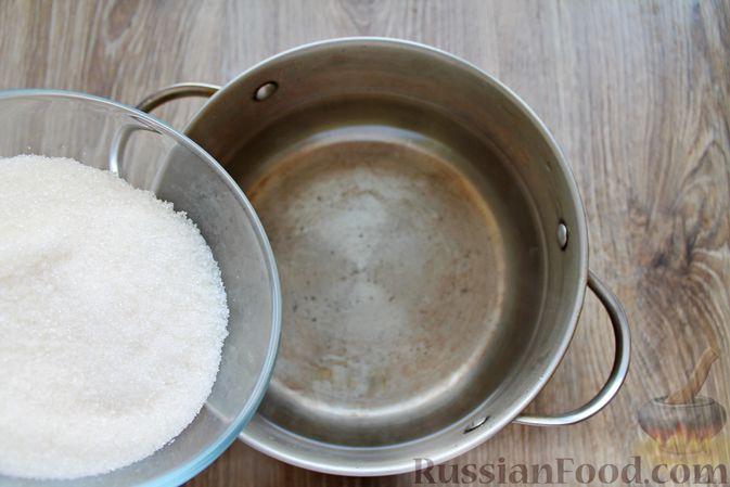 Фото приготовления рецепта: Компот из айвы с лимоном, на зиму - шаг №8