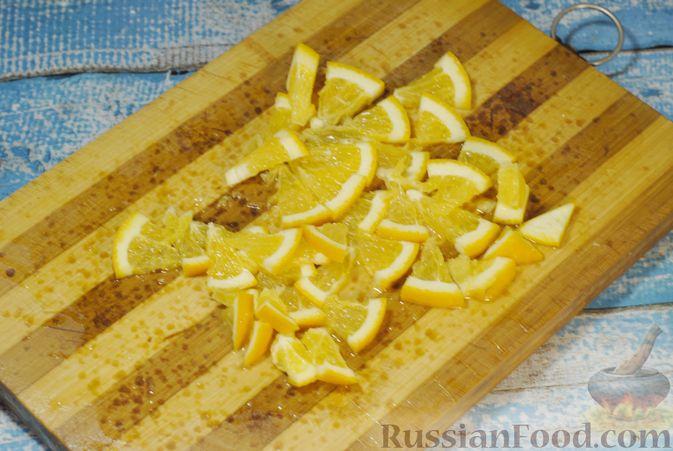 Фото приготовления рецепта: Варенье из айвы с апельсином - шаг №11