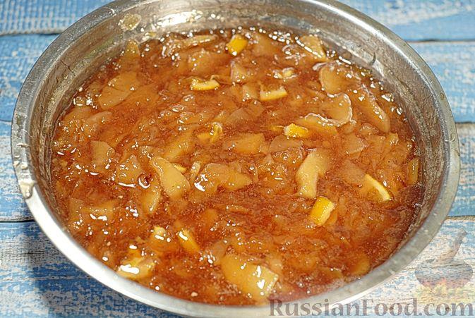 Фото приготовления рецепта: Варенье из айвы с апельсином - шаг №17