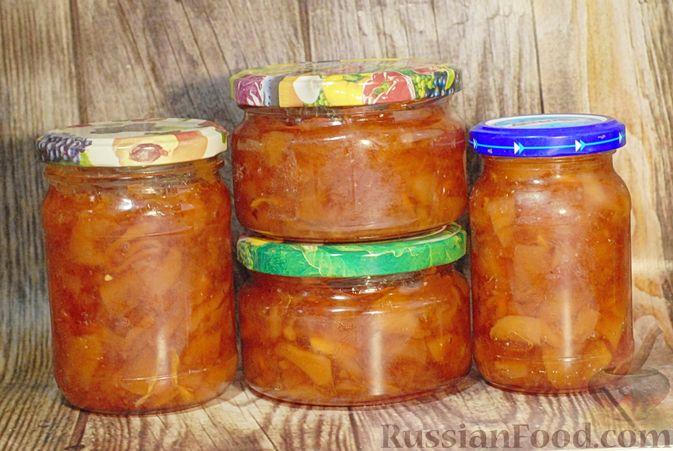 Фото приготовления рецепта: Варенье из айвы с апельсином - шаг №19