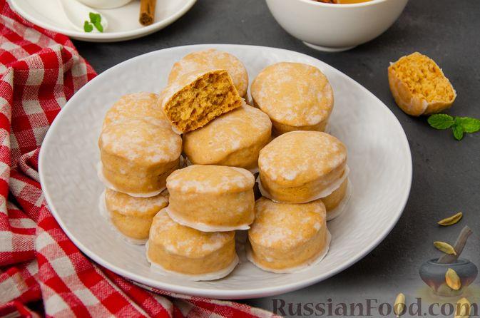 Фото приготовления рецепта: Карамельные пряники из заварного теста, с молочной глазурью - шаг №21