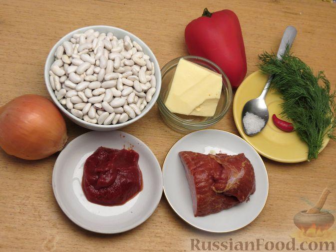 Фото приготовления рецепта: Фасоль с ветчиной, в томатном соусе - шаг №1