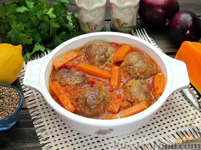 Фото к рецепту: Мясные тефтели в томатно-тыквенным соусе