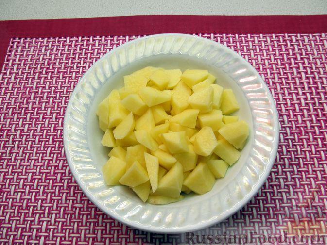 Фото приготовления рецепта: Суп с копчёностями, корнем сельдерея и сметаной - шаг №11