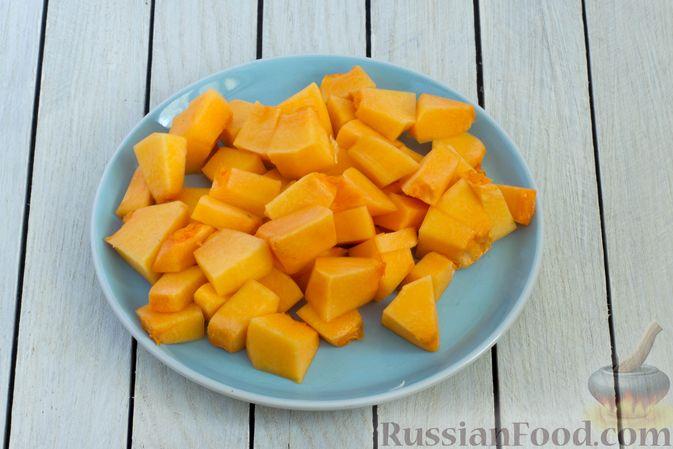 Фото приготовления рецепта: Тыквенное пюре с цветной капустой и морковью - шаг №4