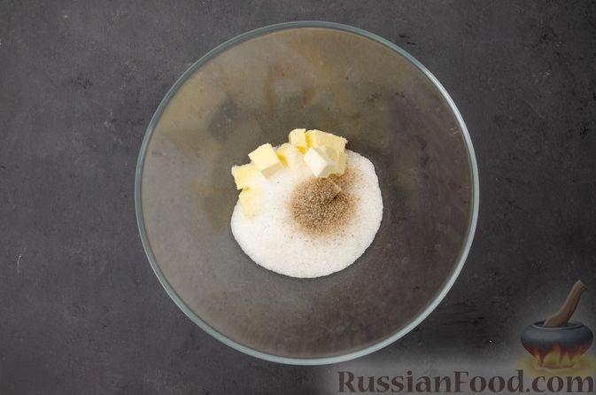 Фото приготовления рецепта: Творожный кекс с изюмом - шаг №5