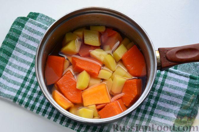 Фото приготовления рецепта: Картофельно-тыквенное пюре - шаг №4