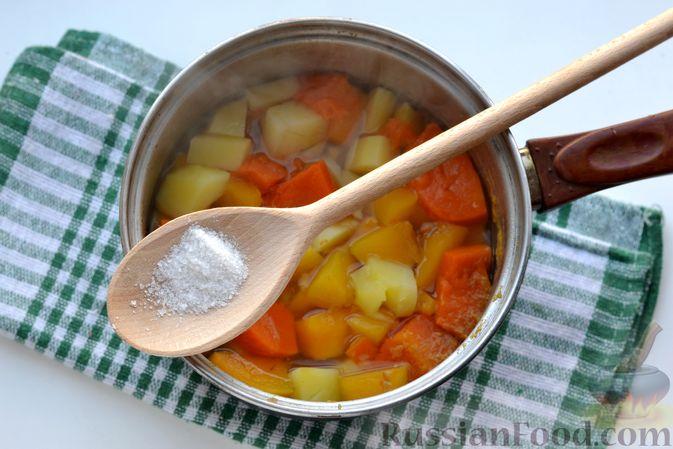 Фото приготовления рецепта: Картофельно-тыквенное пюре - шаг №5