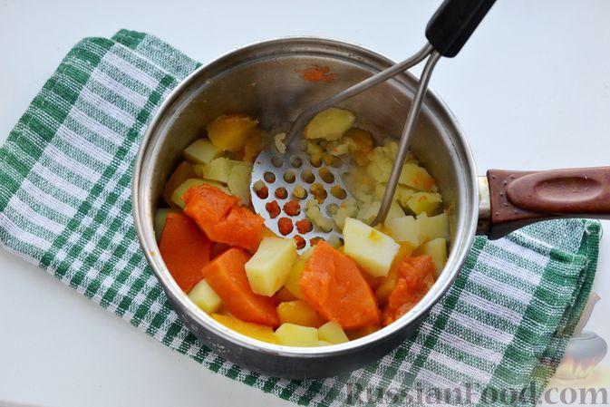 Фото приготовления рецепта: Картофельно-тыквенное пюре - шаг №6