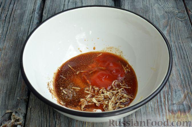 Фото приготовления рецепта: Куриное филе в соево-томатном маринаде, жаренное с цветной капустой - шаг №2