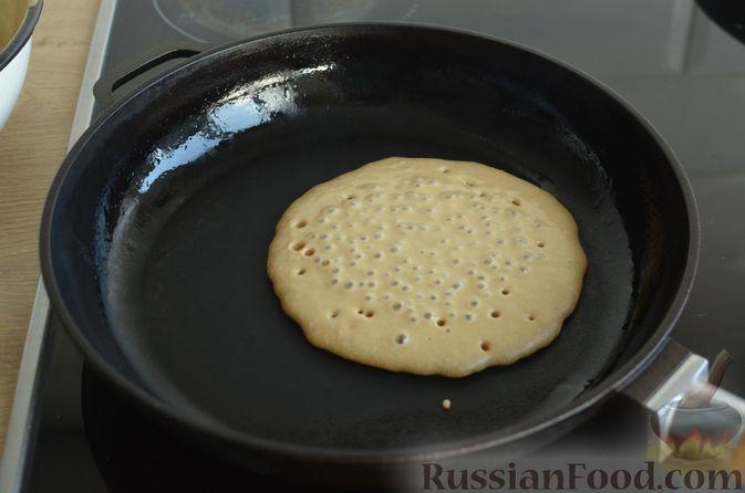 Фото приготовления рецепта: Кофейные панкейки - шаг №9